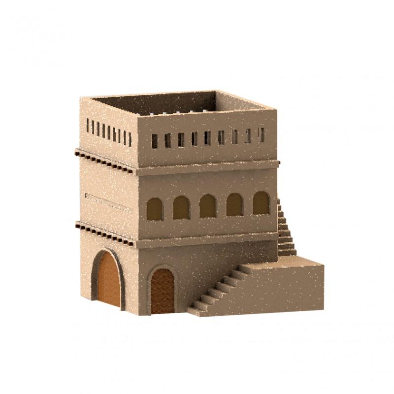 Castle Plant Pot 3d Scales