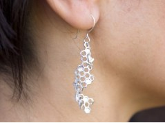 Bees and Honeycomb Earrings